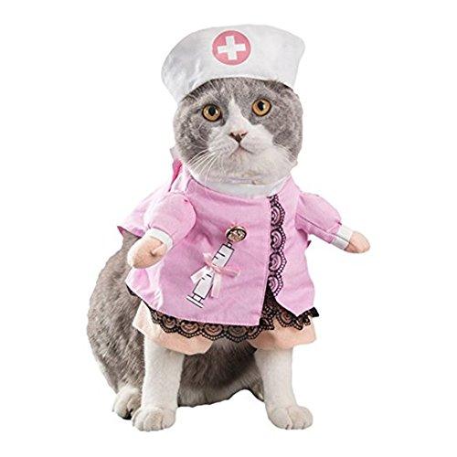 Morbuy Reizende Katzenkostüm Hunde Haustier Kleidung, HundeKostüm Hundebekleidung Kostüme Kleidung Katze lustiges Kleid cosplay (M, Farbe 2 Krankenschwester)