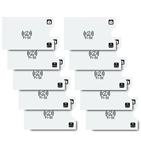 【Fi-St】 スキミング防止 カードケース RFID 磁気 データ保護 セキュリティ強化 (カード10枚)
