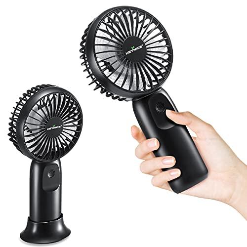 モバイルバッテリー機能&最大31時間連続使用 携帯扇風機 手持ち扇風機 ハンディ扇風機 リムず風 4段階風量調節 充電式 携帯ファン ミニ usb 小型 強力 卓上 アウトドア 熱中症 暑さ対策 ブラック