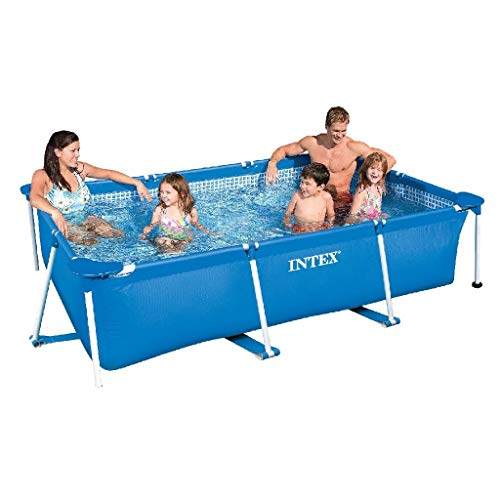 Intex 86' x 23' Rectangular Frame Above Ground Outdoor Child Safe Splash...