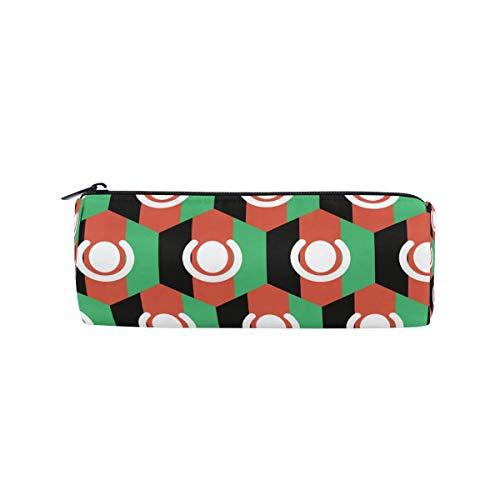 Rundes Federmäppchen mit afghanischer Flagge, tragbarer Stift-Organizer, Tasche für Schreibwaren