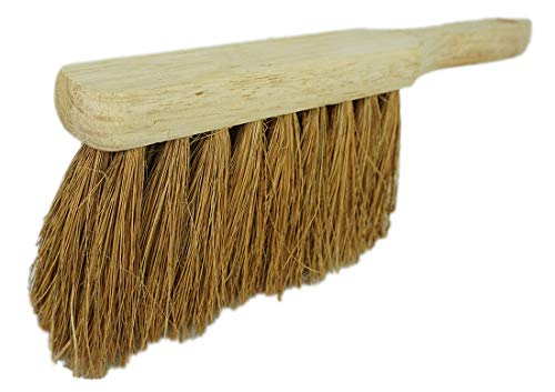 Novaliv 1x Handfeger Kokosborsten Besen Kokos Handbesen Auto Kehrwisch Industriehandfeger Schneefeger Schneebesen Hand Brush Dust pan