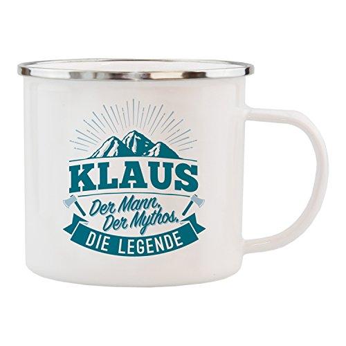 History & Heraldry Echter Kerl Emaille Becher, Klaus, Mehrfarbig