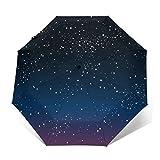 Automatic Folding Umbrella,Travel Compact Umbrella Windproof,Patio Umbrella for Women Men Girl Bright Star