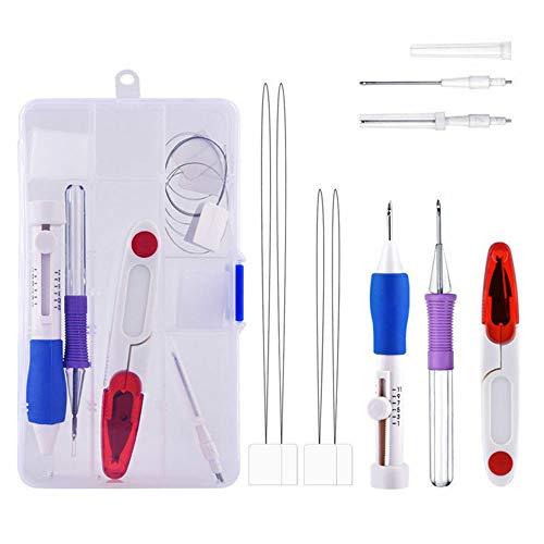 YH Kit de Agujas de perforación Kit de Herramientas de Costura de Bricolaje Juego de...