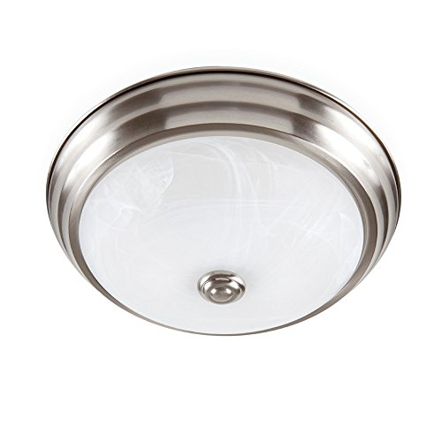 Designers Fountain EVLED502-35-DF Modern Brushed Nickel LED Flush Mount with Alabaster Glass, 11'
