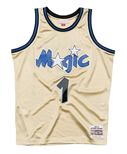 Mitchell & Ness Anfernee Hardaway Orlando Magic Men's Gold Throwback Jersey (5X-Large)