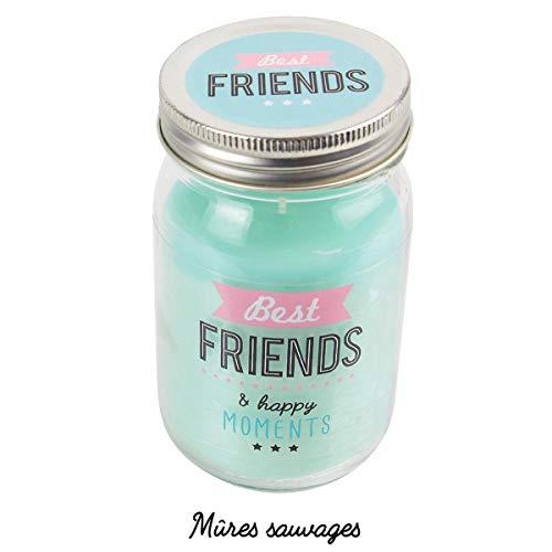 Les Trésors De Lily [Q3947 - Einmachglas duftende Kerze 'Best Friends' (glückliche Momente) - 12,7 x 7,5 cm.