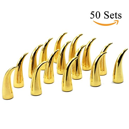 10 Sets 25MM 10//20//30//50 Sets Large Metal Big Tree Spikes Studs Screw-Back Studs for DIY Leather Craft
