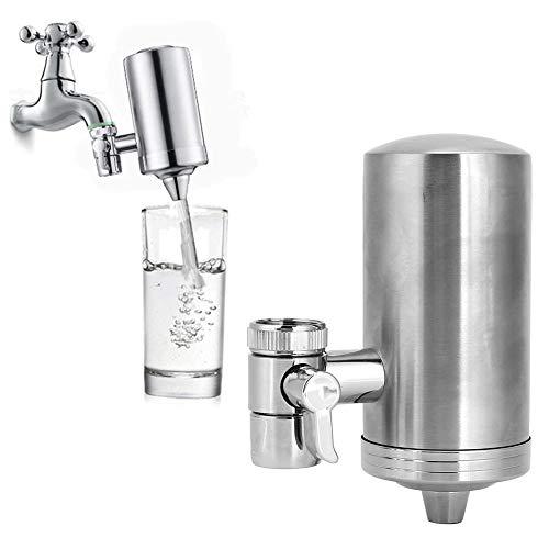 Guoshiy Filtro de Grifo, purificador de Agua Profesional de Acero Inoxidable SUS304, para Reducir el Cloro en el Fregadero de Cocina