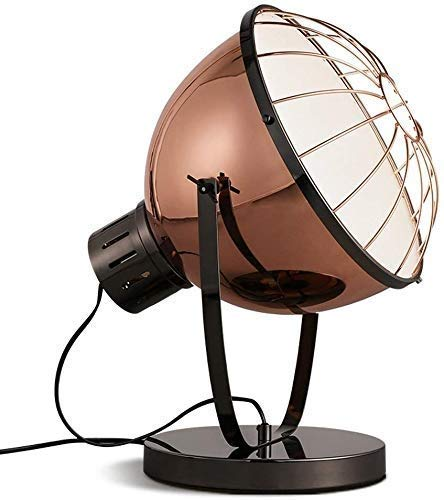 QPLKL Lámpara Focos País Creativo de Escritorio de Oficina Personalidad Retro iluminación LED Enciende Las Luces del Estudio Nostálgico Lámparas de Mesa (Color: Amarillo Claro) Lámpara de Escritorio