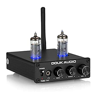 Nobsound Vacuum Tube Bluetooth Power Amplifier ; 2.0 Channel Mini Tube Amp ; Wireless Audio Receiver ; Stereo HiFi Headphone Amplifier ; 50W x 2 / Bluetooth 4.2 / TPA3116D2 / NE5532 / APT-X (Black) from Nobsound