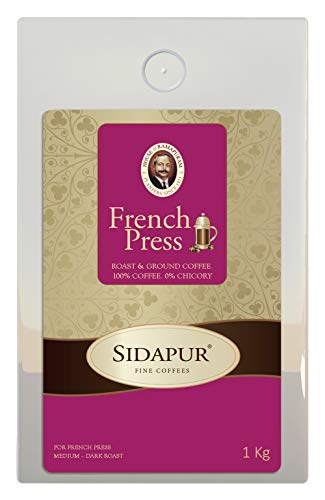 Sidapur French Press Coffee - Roasted Coarsley Ground Coffee For Use In French Press. 100{0498055182dc087f1f68c7691a327ecbcdc7c10fd011aa3a831f733f7e33ddb2} Coffee. 0{0498055182dc087f1f68c7691a327ecbcdc7c10fd011aa3a831f733f7e33ddb2} Chicory - 1 Kg