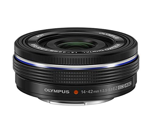 Olympus M.Zuiko Digital 14-42 Ultracompacto - Objetivo para Micro Cuatro tercios (Zoom óptico 3X, diámetro 37 mm) Color Negro