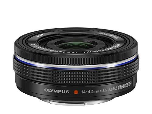 Olympus M.Zuiko Digital 14-42mm F3.5-5.6 EZ Objektiv, Standardzoom, geeignet für alle MFT-Kameras (Olympus OM-D & PEN Modelle, Panasonic G-Serie), schwarz