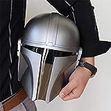 Mandalorian Helmet for Adult, Latex Full Mask Deluxe Helmet, Cool Bounty Hunter Mando Props Adult Cosplay Costume