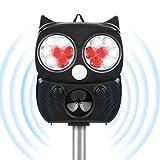Tiervertreiber Ultraschall Solar, 5 Modus Hochleistung Breite Abdeckung Katzenschreck...