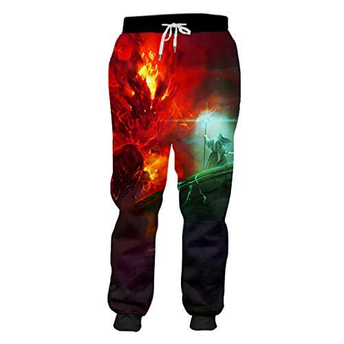 Sarouel Hommes Seigneur des Anneaux Pantalons 3D Anneaux Imprimés Costumes Hip Hop Lord of The Rings XXXL
