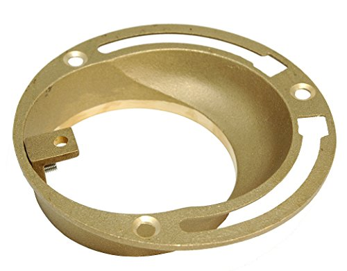 4-Inch Brass Offset Closet Flange - By PlumbUSA