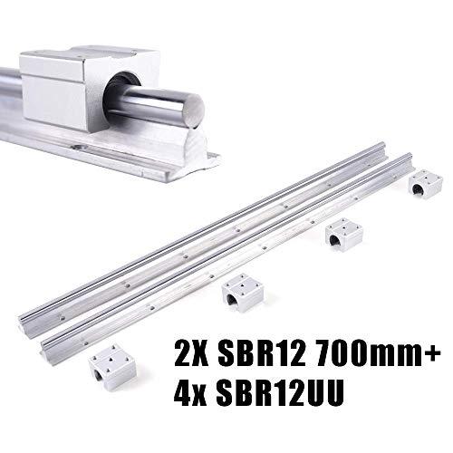 2x SBR12-500mm Linearlager Führung Schiene Gleitführung Welle 4 SBR12UU Block