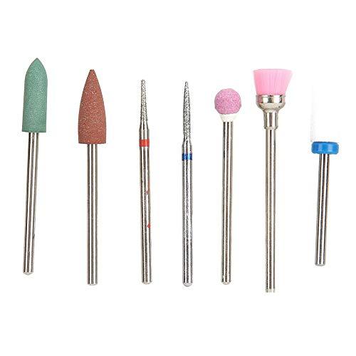 Kit de brocas de uñas eléctricas de 7 piezas para pulido y pulido de manicura, accesorio de kit de inicio de taladro de uñas para cuidado de uñas y trabajo de uñas