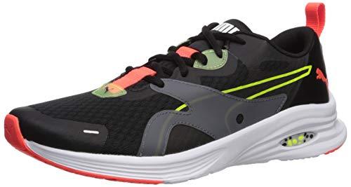 PUMA Men's Hybrid Fuego Sneaker, Black-Yellow Alert, 7 M US