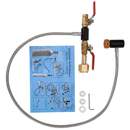 Jeffergarden Adaptateur de Recharge de Cylindre CO2 G1 / 2 avec Tuyau pour Le Remplissage du réservoir Sodastream (36 inch)