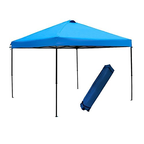 Abba Patio 10 x 10 Feet Outdoor Pop Up Canopy Portable Folding Canopy Instant Shelter with Roller Bag, Blue