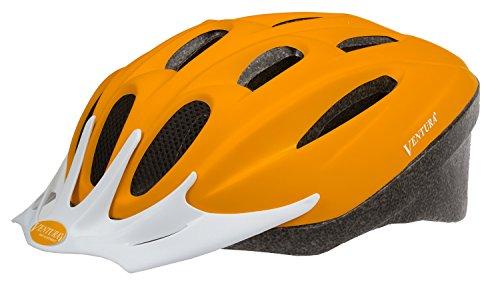 VENTURA Fahrrad Helm Fahrradhelm, Mattorange, 58-61 cm