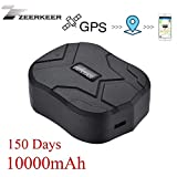 TKSTAR Hidden Vehicles GPS Tracker,Waterproof Tracking Device GPS Locator with Strong Magnetic No