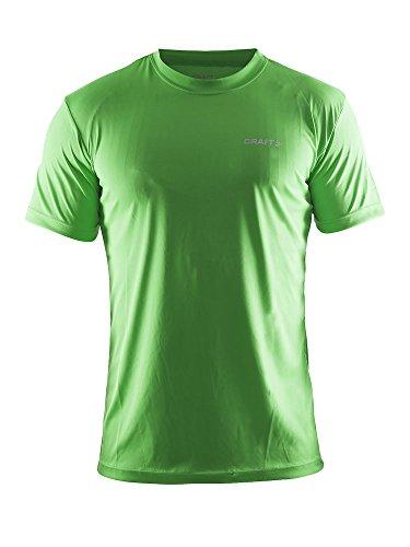 Craft Hombres Ropa Casual de Prime tee Ligero Deportes Camiseta con Transporte de Humedad ct086/199205Swe. Grande, Color Azul, Hombre, Color Craft Green, tamaño 2 X-Grande