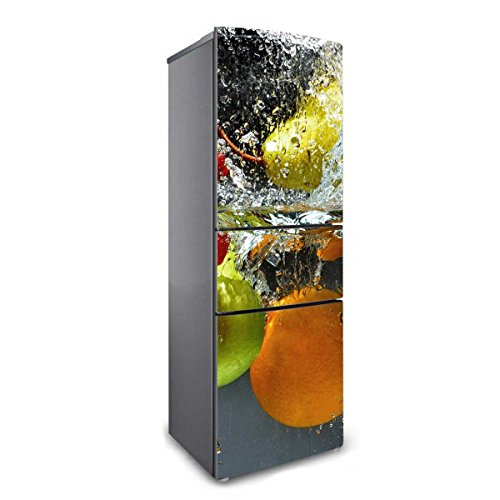 RAIN QUEEN Kühlschrank Kleiderschrank Geschirrspüler Aufkleber Bild Dekor Folie Klebefolie Front Sticker Pflanze Blumen Wald (180 * 60 cm, G#)