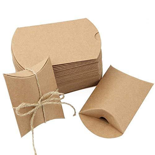 JTDEAL 50 Cajas Regalo 50 Cuerda Yute64cm