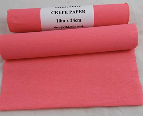 C61SP 2 rollos de papel crepé rosa salmón, 24 cm x 10 metros