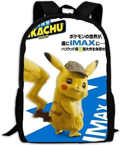 Digimon - Zaino per bambini P-ika-chu, ideale come regalo di compleanno, per bambini, morbido e comodo (A01,13 pollici (asilo)