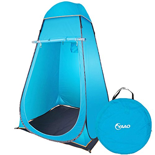 YAAO Instant Pop-Up Privacy Shelter Outdoor Changing Room Tent Blue