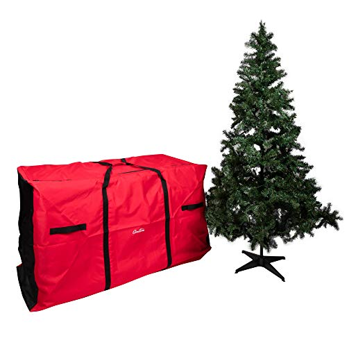 Camerons Christmas Tree Extra-Large Storage Bag with Wheels- Heavy Duty 58'x24'x34' Storage Container for 9 ft Artificial Trees, Decorations, Ornaments, and More