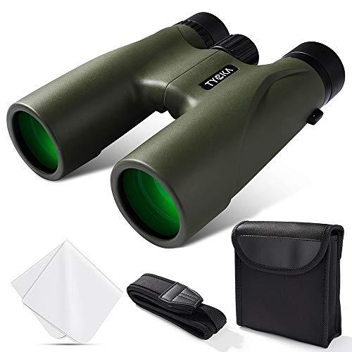 Binoculares de 12x32 para Adultos con trípode y Soporte para teléfono Inteligente Vidrio óptico Completo HD BAK4 Prism Lente FMC Impermeable Antiniebla con Correa para el Hombro y Bolsa de Transporte