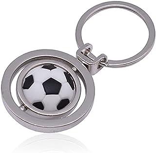 Rotation Football Keychain, Fashion Metal Sport Football Soccer and Boot Keyring, Football Silver Keyring, Football Keycha...