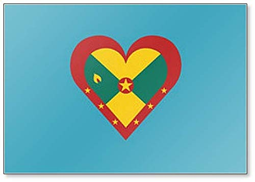 Kühlschrankmagnet Grenada-Flagge in Herzform Illustration Klassischer Kühlschrankmagnet