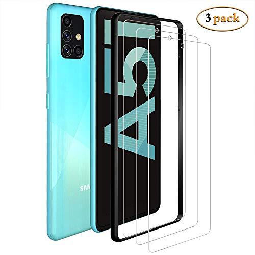 ANEWSIR Pellicola Protettiva per Samsung Galaxy A51 /A51 5G Vetro Temperato -3 Pezzi 9H Durezza Ultra Resistente Anti-Graffo/Olio/Impronta HD Chiaro Screen Protector per Samsung Galaxy A51