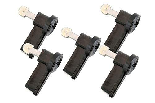 5x Zündschlüssel in Schwarz für Simson DUO, KR51/2, S50, S51 und S70