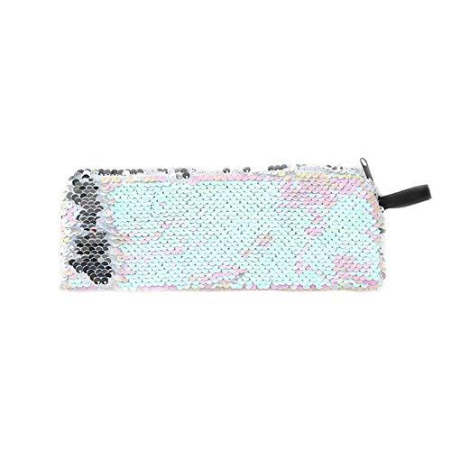 BASSK Fashion Sequin Women Glitter Cosmetic Bag Pencil Box Porte-monnaie Maquillage Case