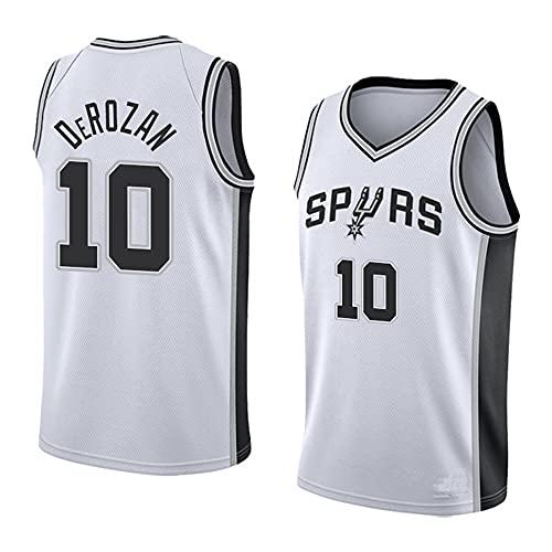 Camiseta de baloncesto para hombre de la NBA Baloncesto Spurs No. 10 Jersey casual media manga camisetas