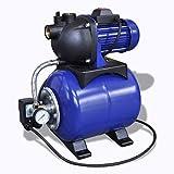 vidaXL Hauswasserwerk 1200 w 3700 L/h Gartenpumpe Wasserpumpe Wasserwerk Pumpe