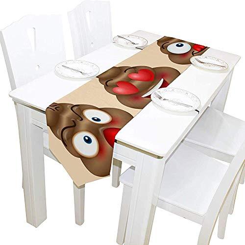 SESILY - Juego rectangular de camino de mesa estampado bonito cachimba, 33 x 178 cm, para boda, cumpleaños, fiesta