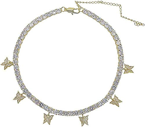 BEISUOSIBYW Co.,Ltd Necklace Fashion Iced Out Bling Hip Hop Women Jewelry...
