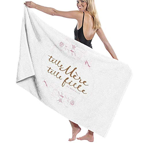 XCNGG TeLle MèRe, TeLle FiLle3 Beach Towels Microfiber Super Soft Absorbent Blanket for Adults Women Men