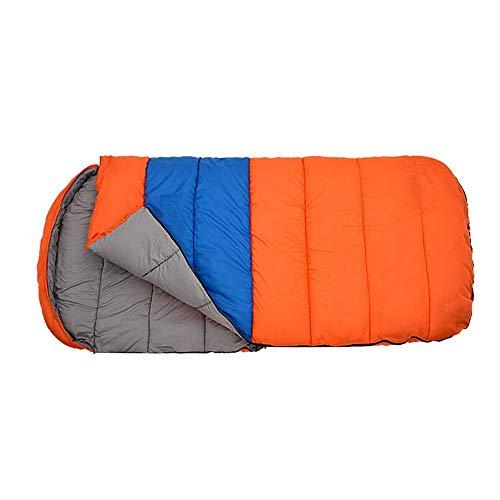 QFFL shuidai Sac de Couchage Enveloppe/Étanche / Épaissir Élargir/Extérieur Voyager Camping Randonnée Sac de Couchage Rectangulaire en Coton (190 + 30) * 100cm (Couleur : Orange, Taille : # 3)