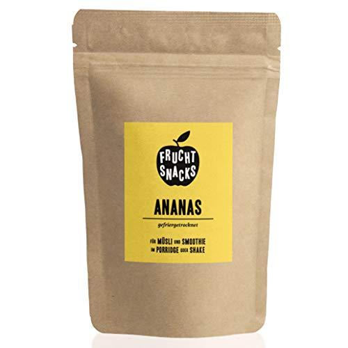 Ananas gefriergetrocknet 100g I Getrocknete Ananas Stücke ungezuckert I 100% Frucht, voller Geschmack